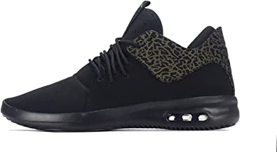 Jordan Mens AIR First Class Black Metallic Gold White Size 9.5