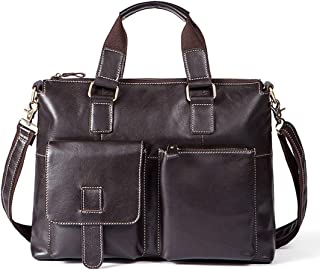 Mens Bag Vintage Large Satchel Shoulder Bag 14 Inch Computer Laptop Handbag Men's Tablet Messenger Bag High capacity