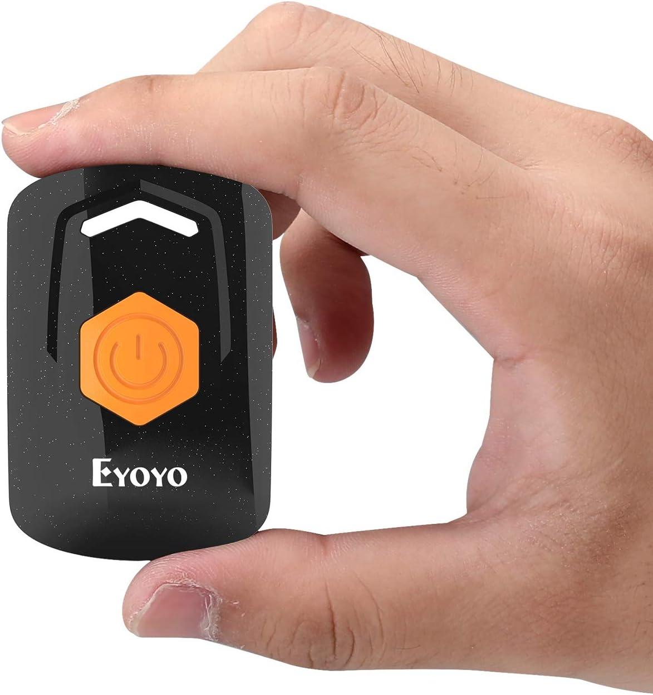 Eyoyo 2D Escáner de Código de Barras, 1D Mini Lector de Código de Barras QR con 3 Conexión Bluetooth 2,4G Inalámbrico Cable USB Admite PDF417 Data Matrix para iOS, Android, Tableta y PC