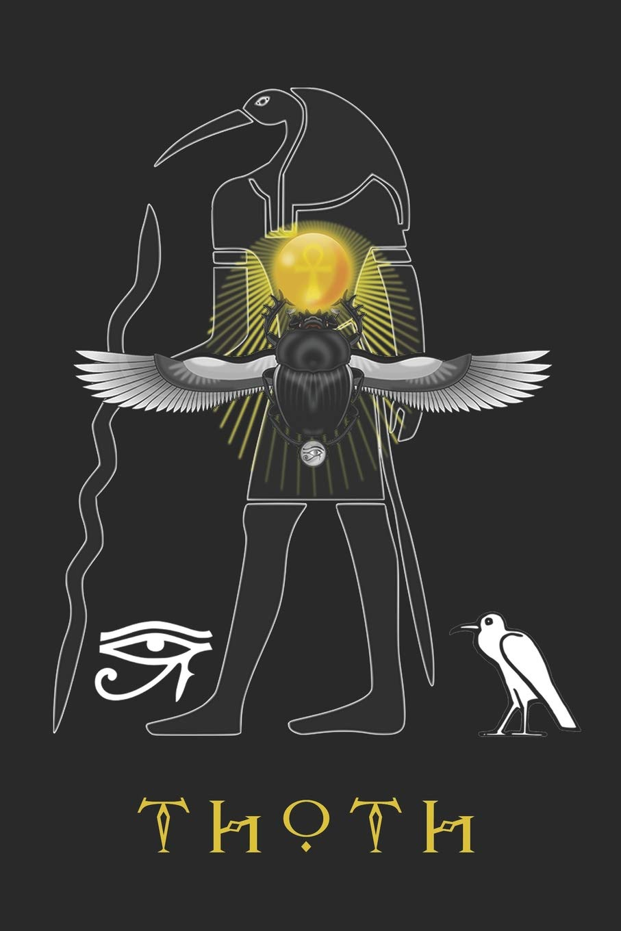 Download Thoth: Journal Scarab Beetles The Eye Of Horus Blank Wide Ruled Line Paper Notebook Ancient Egyptian Deities Gifts 