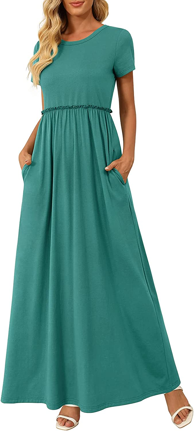 Zattcas Women's Maxi Dress Short Long Quality inspection Outstanding Sleeve Casual with Dresses
