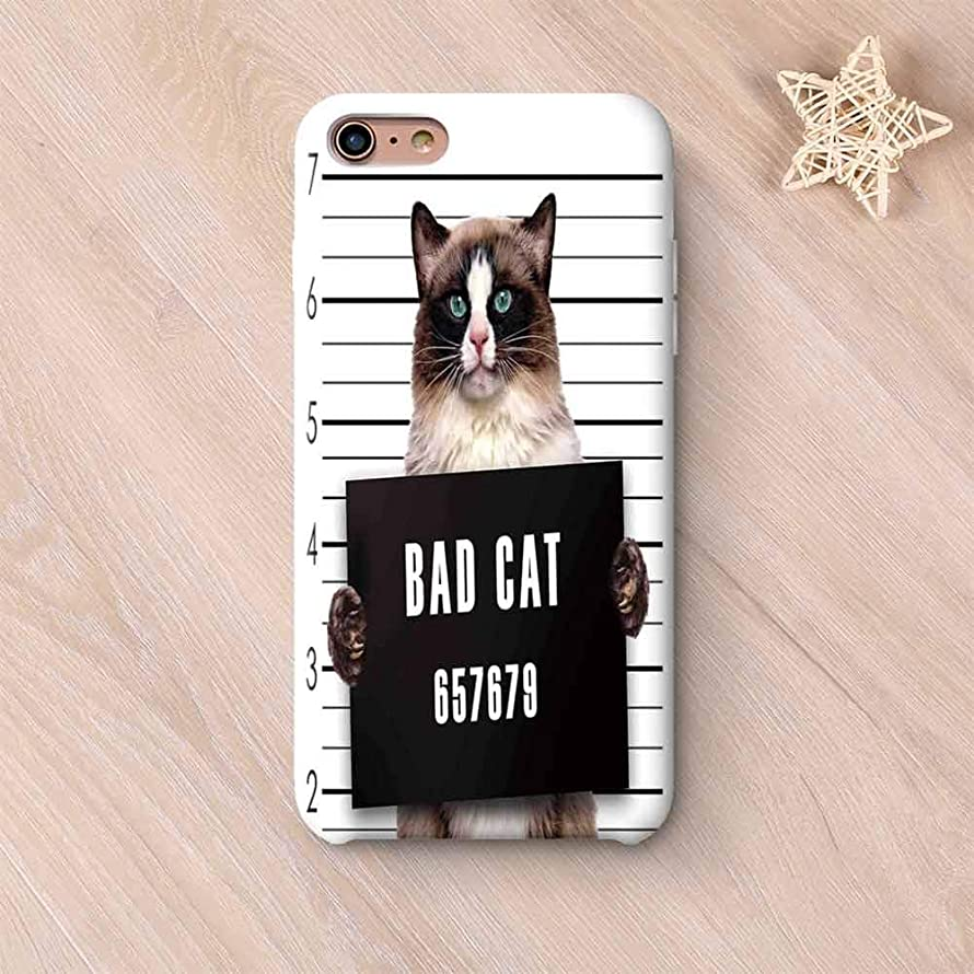Cat Lover Decor Elegant Compatible with iPhone Case,Bad Gang Cat in Jail Kitty Under Arrest Criminal Prisoner Hangover Artsy Work Compatible with iPhone 6/6s,iPhone 6 Plus / 6s Plus