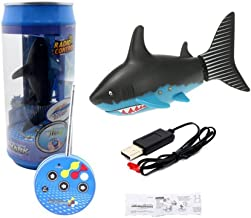 Nwell Mini Remote Control Toy Electric RC Fish Boat Shark Swim in Water for Kids Gift - Black