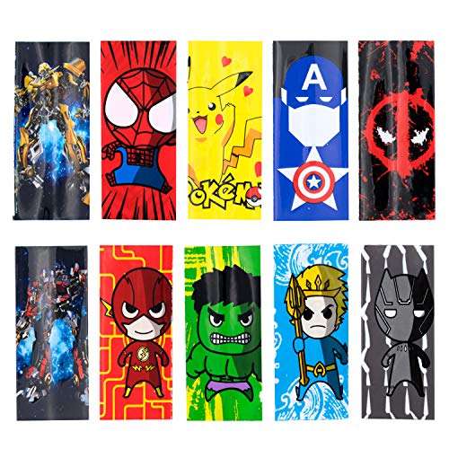 18650 Battery Protective Wraps, Sleeves Heat Shrink PVC Tubing Tubes 100% Authentic Pre Cut 18650 Battery Sleeve Shrink Film 10 Styles Replacement Cover Skin (20PCS) Random Color and Design