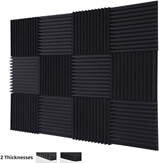"TRUE NORTH Acoustic Foam Panels (1"" or 2"" Thick) 12 Pack � Acoustic Panels, Sound Proof Padding, Sound Proof Foam Panels, Soundproofing Foam Panel, Studio Foam, Soundproof Foam, Acoustic Panel"