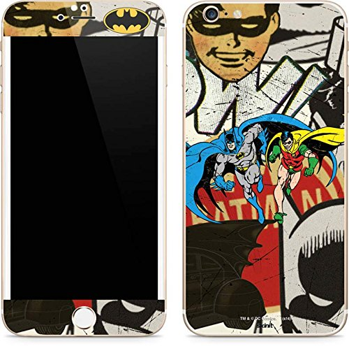 Skinit Decal Phone Skin Compatible with iPhone 6/6s Plus - Officially Licensed Warner Bros Batman and Robin Vintage Design