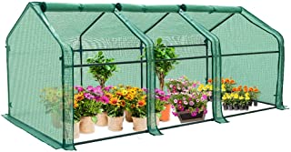 EAGLE PEAK Garden Portable Tunnel Greenhouse 95'' x 36'' x 36'' with Large Zipper Door for Indoor Or Outdoor Plants