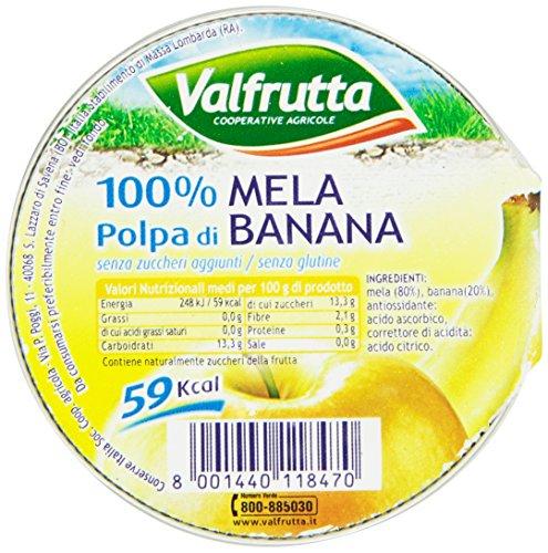Valfrutta Polpa di Mela e Banana - 100 g