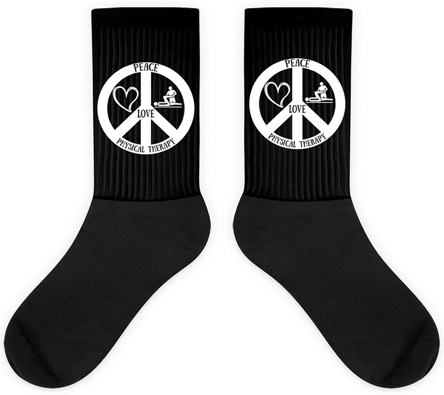 Peace Love Physical Therapy,Assistant Funny Doctor Gift Sock