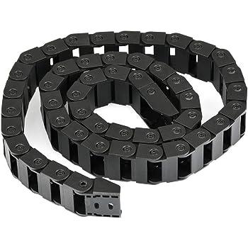 chudian 1pcs 1M Chaine de Trainage R28,10mmx10mm Plasique Cha/îne de Dragonne de C/âble Transporteur pour 3D Imprimante CNC Routeur Machine,Noir