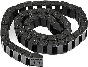 Wohlstand Sleepketting, open aan beide zijden kunststof sleeplijn, half gesloten, 10 x 20 mm 1 m, zwart, voor elektronisch...