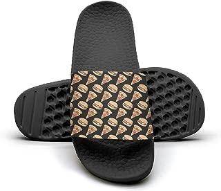 Camp Chef Pizza Hamburger Womens Outdoor Indoor Slides Non-Slip Flip Flop Fashionable Sandals