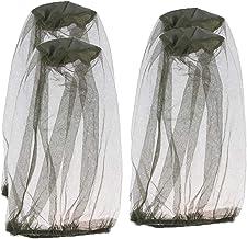 Zengkei 4 Piezas Máscara de Mosquito, Mosquitera de Cabeza, Mosquito Head Net Duradera Ligera para Actividades al Aire Libre, Senderismo, Pesca, Caza, Camping, Mochila - Verde