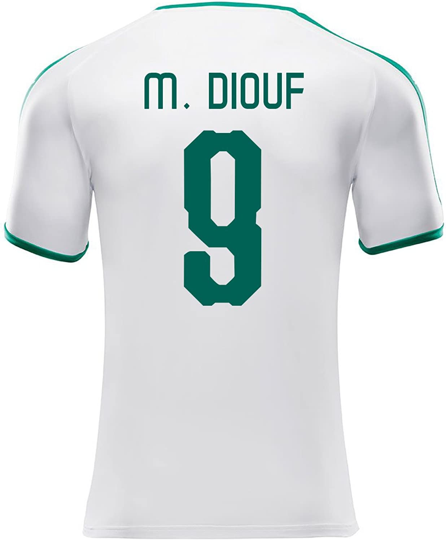 Puma M. DIOUF  9 Senegal Men's Home Soccer Jersey World Cup Russia 2018
