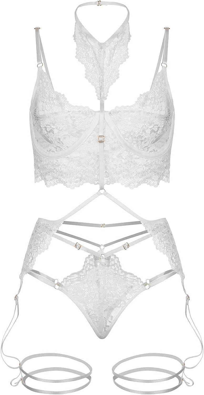 xoxing Women's Lingerie Plus Size Sleepwear Intimates Sexy Underwear Pajamas Nightwear Tank Tops Chemise Halter (G)