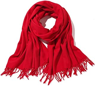 """Women's & Men's Large 79""""x28"""" Soft Lamb Cashmere Wool Wraps Shawls with Fringe Stole Scarf Scarves with Gift Box"""