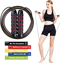 EILISON Jumping Rope,Adjustable Skipping Ropes Workout with Memory Foam Handles for Woman,Ball Bearing Jump Rope for Fitne...