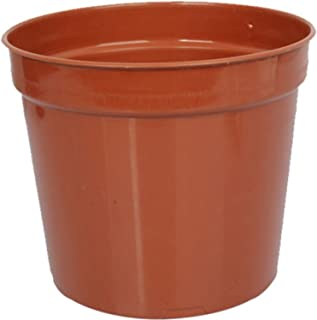 First Smart Plastic Nursery Pot (7-inch, Brown, Pack of 10)