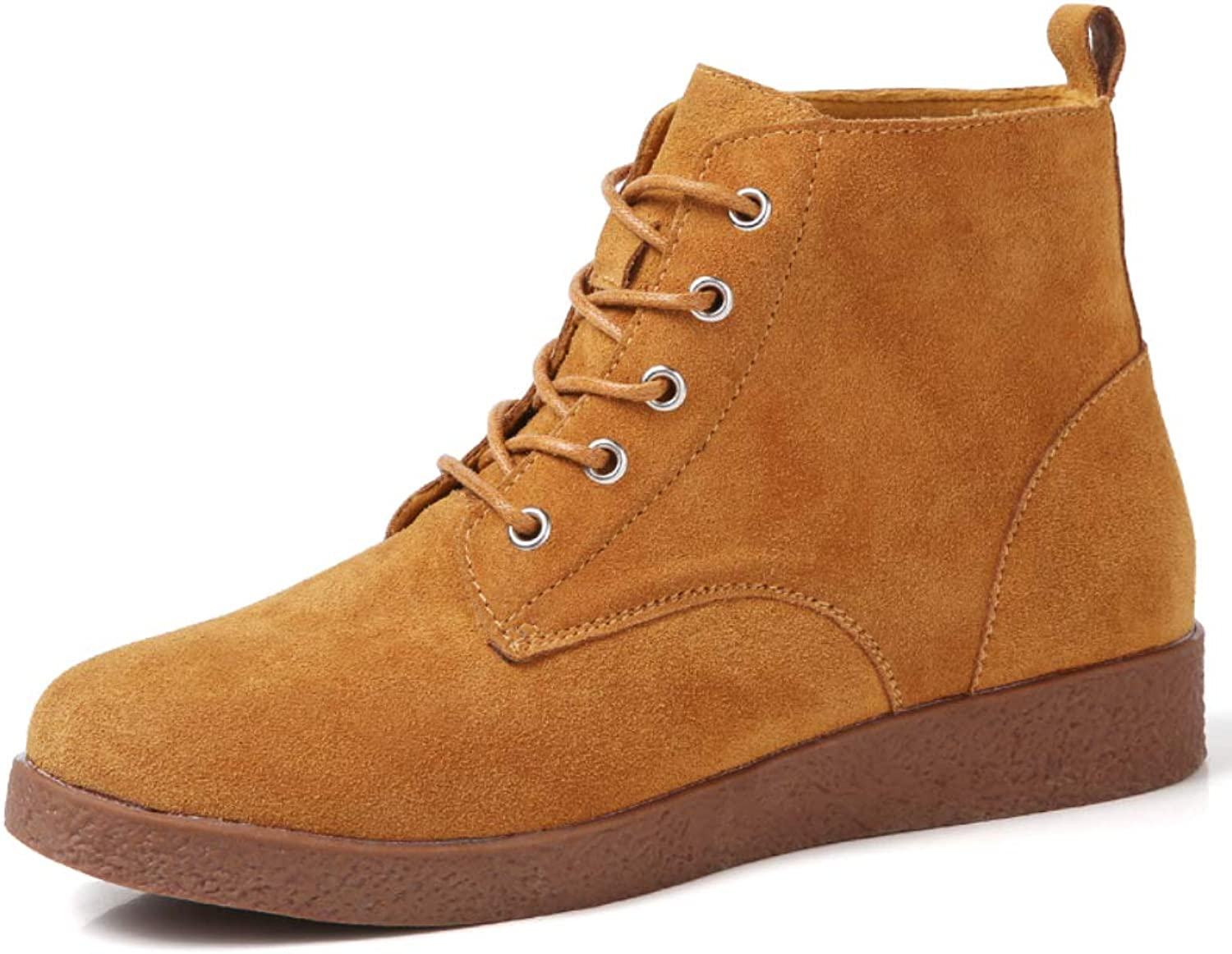 Fashion Leather Ankle Boots for Women Winter Combat Boots