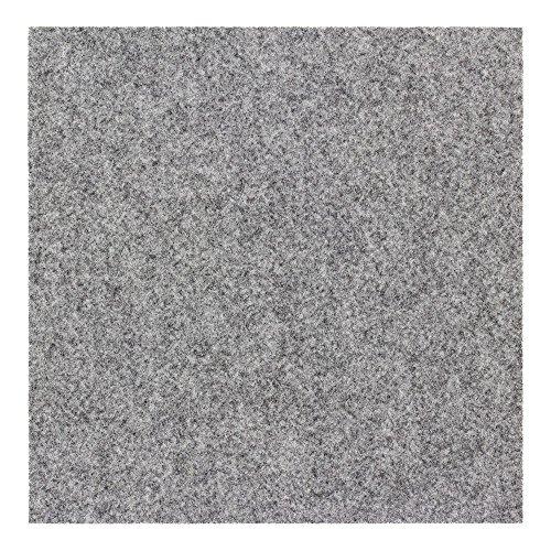 BilligerLuxus Teppichfliese selbstklebend Nadelfilz 25er Set ca. 4m² Filzfliese, Farben:Grau