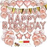 stshell 誕生日 飾り付け 風船 Happy Birthday バルーン パーティー 装飾 バースデー ガーランド バースデー パーティー 誕生日 飾り付け ローズゴールド