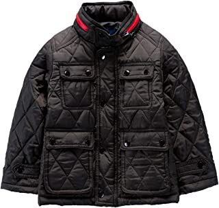 M2C Boys Light Diamond Quilted Padded Barn Jacket with Folding Hood