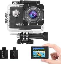 دوربین ضد آب Jadfezy 1080P دوربین ضد آب زیر آب 40M با EIS دو باتری قابل شارژ 900 میلی آمپری کیت زاویه باز و لوازم جانبی 140 درجه