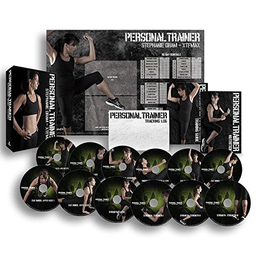 个人培训者:90 天锻炼计划 12 锻炼视频 DVD + 训练日历、健身追踪和训练指南以及营养计划.
