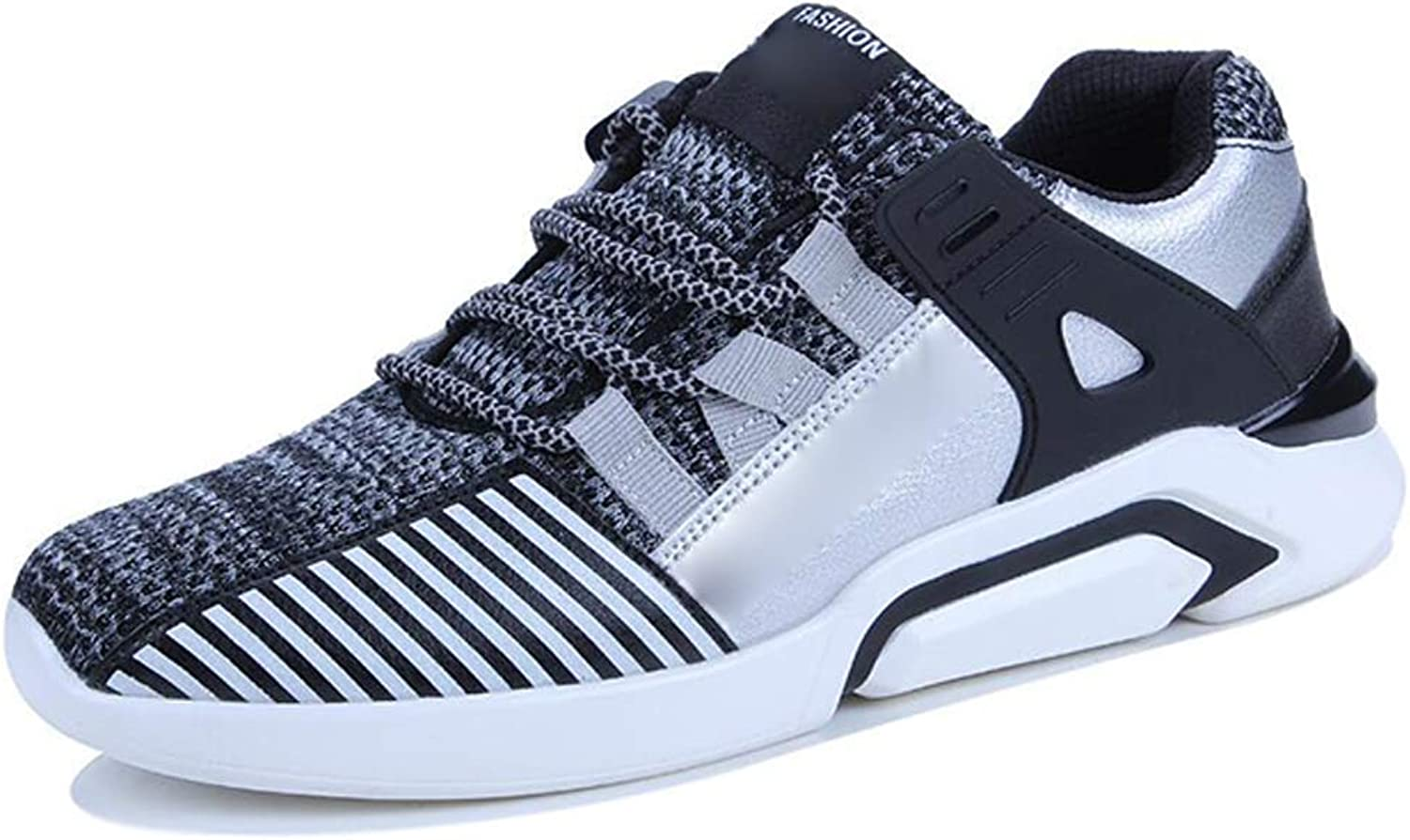Outdoor Sneakers for Mens Men's Running shoes Outdoor Sports Casual Fashion Versatile Low Cut Breathable Three color and Multi Size (color   Grey, Size   39)