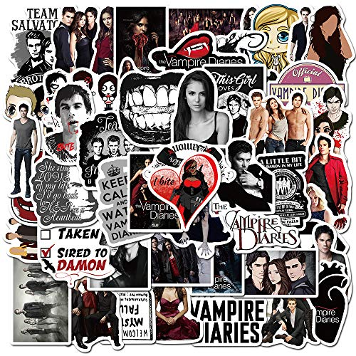 Tv Show The Vampire Diaries Stickers Waterproof Pegatina for DIY Car Helmet Motorcycle Bike Phone Laptop Guitar Sticker50pcs