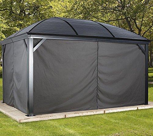 Sojag Aluminium Pavillon Moreno Vorhänge Seitenteile Anthrazit/passend für Gartenlaube Moreno