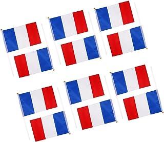 Sharplace 12 Piezas Bandera Americana Francia Alemania Australia Canadá Banderas Nacionales con Postes Tavala Decoración