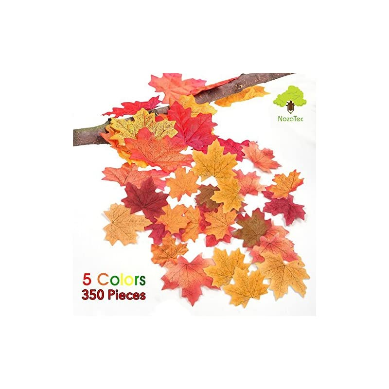 silk flower arrangements noza tec 350 artificial maple leaves approximately assorted mixed rich flower fall colored silk weddings, autumn party, events and decorating, 50 g