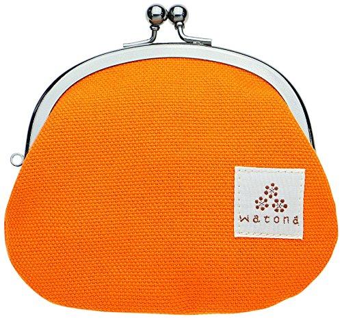 watona 帆布がま口 3.3寸丸形小銭入れ (キャロットオレンジ)