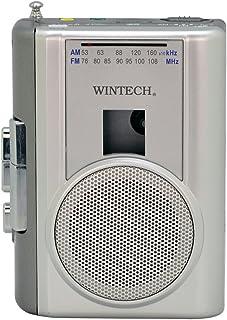 WINTECH テープレコーダー 外部マイク付属/カセット再生・録音対応/AM,FMラジオ機能付/FMワイドバンド対応  シルバー PCT-02RM