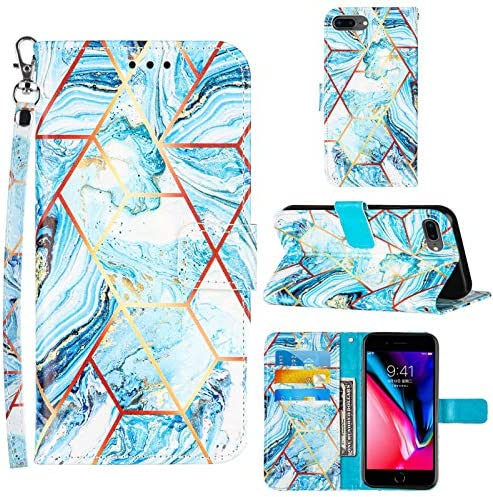 Compatible for iPhone 8 Plus Wallet Case iPhone 7 Plus Case Women iPhone 6 6S Plus Case Wrist product image