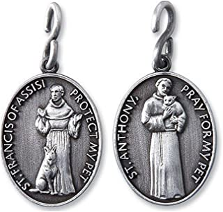 Religious Gifts Saint Anthony St Francis 1 1/4 Inch Pewter Catholic Christian Pet Collar Medal Pendant