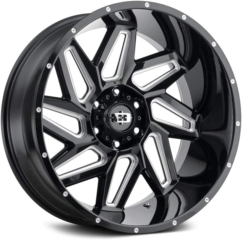 Vision 361 Spyder 22x12 8x170-51mm Black In Easy-to-use Milled 22