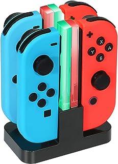 Diswoe Nintendo Switch Joy-Con充電器 Joy-Con Pro コントローラー 充電 スタンド 3WAY充電可能 ニンテンドー スイッチ 充電ホルダー チャージャー 充電指示LED付き