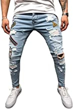 Dookingup - jeans para hombre, ajustados, ajustados,