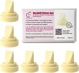 Nenesupply 6 pc Compatible Duckbill Valves for Spectra S1 Accessories Spectra S2 and Medela Pump in Style Not Original Spectra Pump Parts Replace Spectra Duckbill Valves and Medela Valve