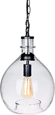 CASAMOTION Pendant Light Glass Ceiling Fixture Kitchen Island Chain Hanging Chandelier Vintage Lighting Rustic Farmhouse Dini