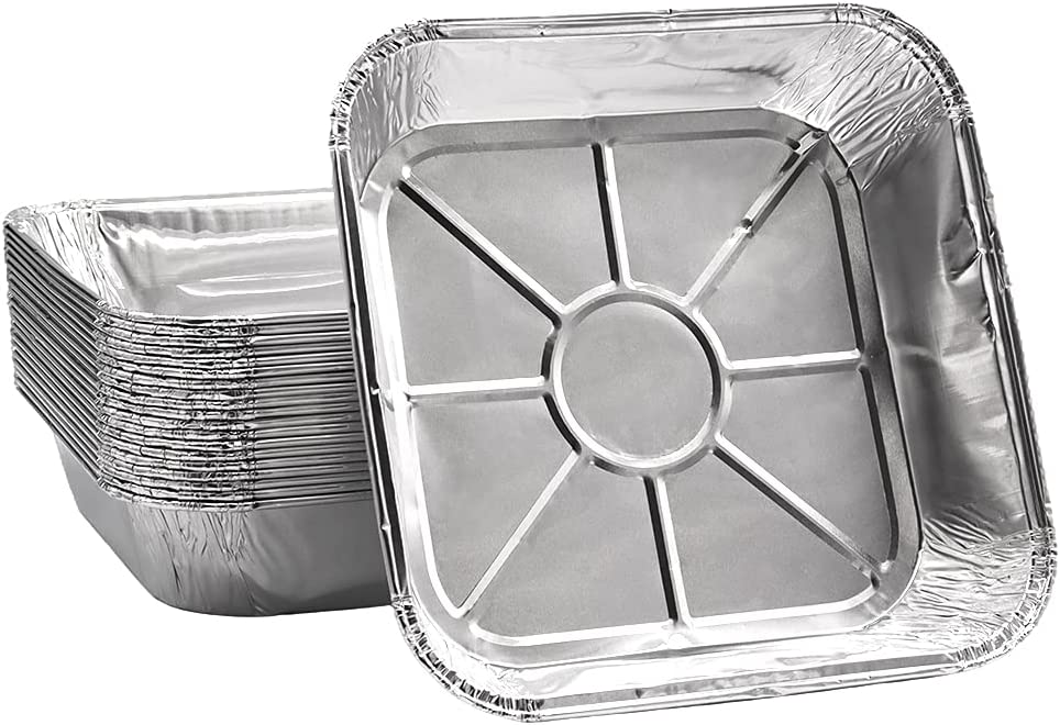20 Pcs Aluminum Foil Pans,Disposable Square Aluminum Tray,8 Inch Aluminum Foil Tins for Heating,Cooking,Baking,Storing,Prepping Food
