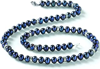 Midnight Spell Black Pearl Necklace and Earrings - Pearl Jewelry Set - Black Pearls #1333-025