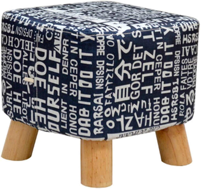 YANGXIAOYU Stool Leisure Chair Home Solid Wood Feet Fabric Sofa Stool Bench shoes