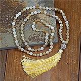handmade 108 mala collana yoga 8mm natural stone collana in rilievo collana lunga nappa collana meditazione regali donne gioielli religiosi