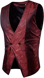 Men's Waistcoat V Neck Vests Slim Stylish Vest Modern Casual Fit Jacket Men Casual Business Vest 1 Button