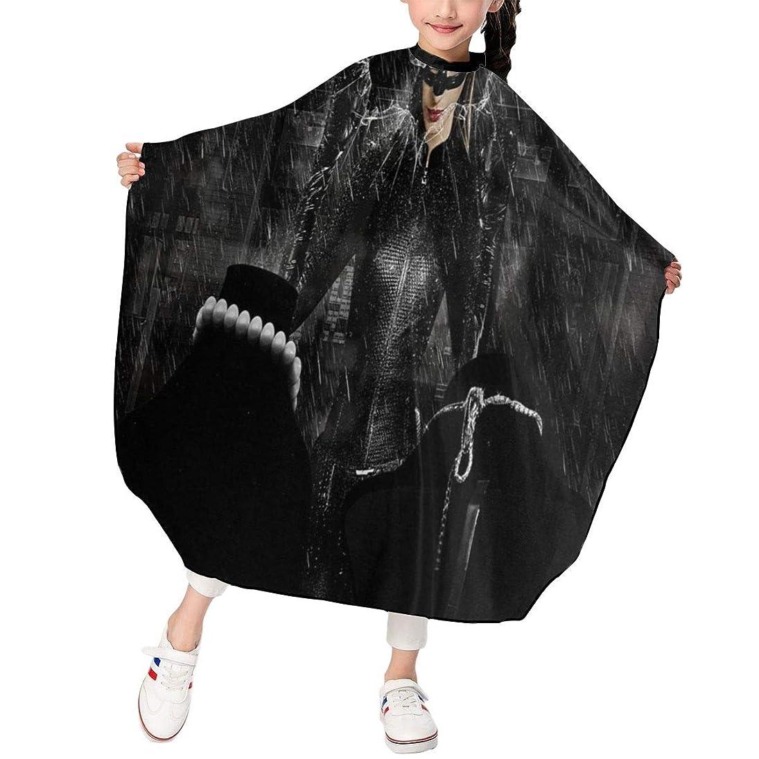 狐皮肉な取り付け最新の人気ヘアカットエプロン 子供用ヘアカットエプロン120×100cm キャットウーマンAnne Hathawayアン ハサウェイ 柔らかく、軽量で、繊細なポリエステル生地、肌にやさしい、ドライ