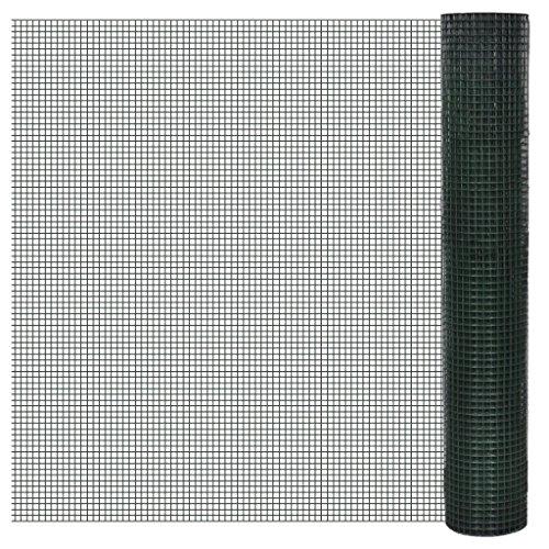 XuzhEU - Malla Cuadrada de Alambre galvanizado con Revestimiento de PVC, 1 x 10 m, para Paneles de Valla de Protección de privacidad