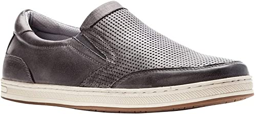 Propet Hommes's Logan Slip On paniers, gris gris Nubuck, Nylon, Polyurethane, Rubber, 11 X-Wide  économiser 35% - 70% de réduction